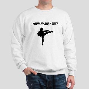 Custom Karate Kick Silhouette Sweatshirt