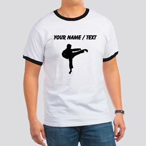 Custom Karate Kick Silhouette T-Shirt