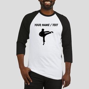 Custom Karate Kick Silhouette Baseball Jersey