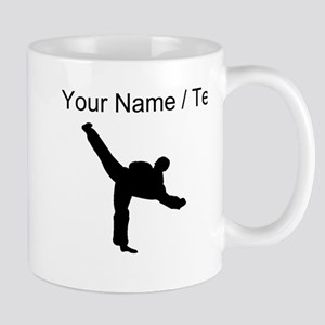 Custom Karate Kick Silhouette Mugs