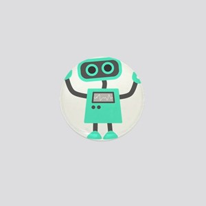 Cute Robot Mini Button