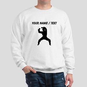 Custom Martial Artist Silhouette Sweatshirt