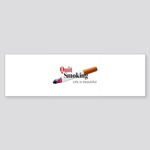 Quit Smoking Bumper Sticker