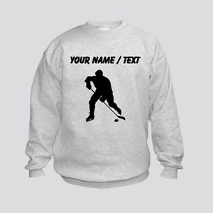 Custom Hockey Player Silhouette Sweatshirt