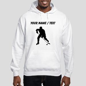 Custom Hockey Player Silhouette Hoodie