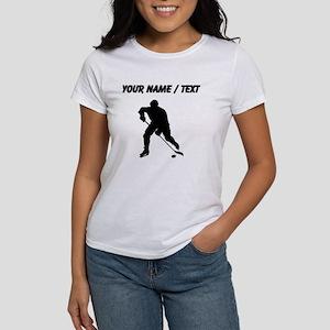 Custom Hockey Player Silhouette T-Shirt