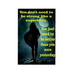 Suerhero Silhouette Inspirational Quote Magnets
