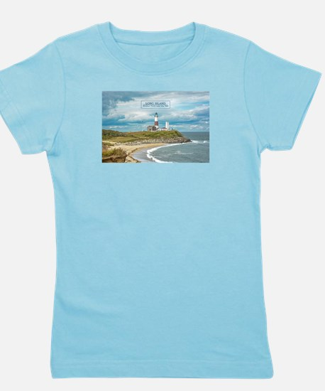 Long Island. Montauk Point Light. Girl's Tee