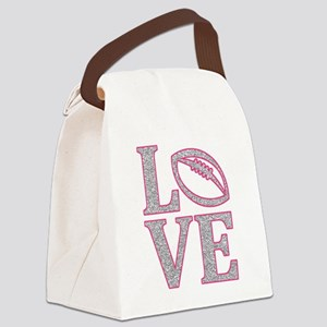 Football Love Canvas Lunch Bag