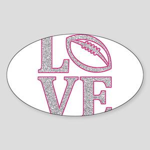 Football Love Sticker (Oval)