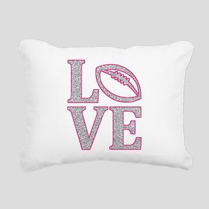 Football Love Rectangular Canvas Pillow