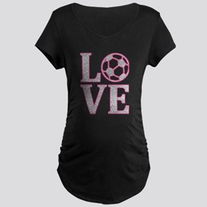 SOCCER LOVE Maternity Dark T-Shirt