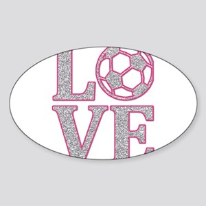 SOCCER LOVE Sticker (Oval)