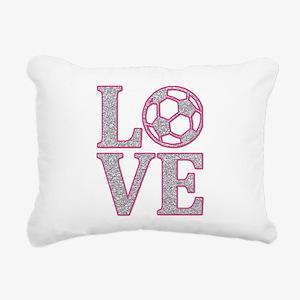 SOCCER LOVE Rectangular Canvas Pillow