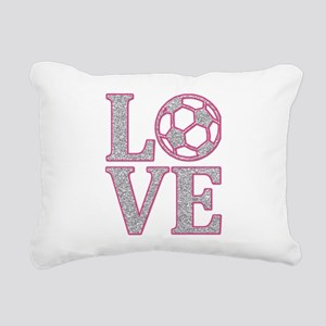 SOCCER LOVE Rectangular Canvas Pillow