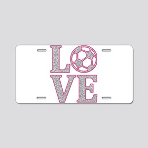 SOCCER LOVE Aluminum License Plate