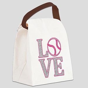 Baseball LOVE Canvas Lunch Bag