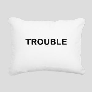Trouble Rectangular Canvas Pillow