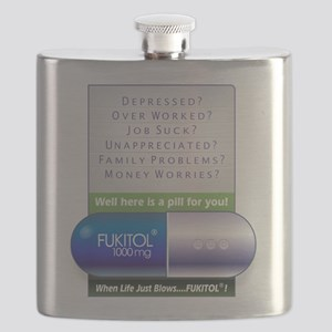 Fukitol Poster Flask
