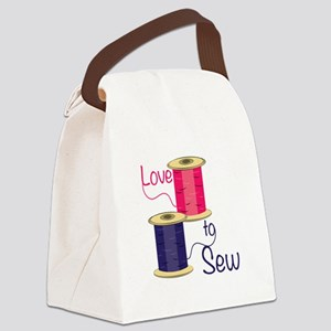 Love To Sew Canvas Lunch Bag