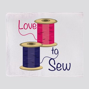 Love To Sew Throw Blanket