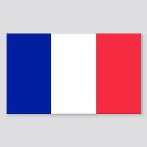 French Flag Sticker (Rectangle)