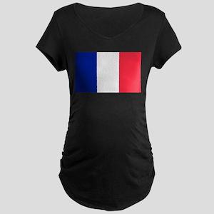 French Flag Maternity Dark T-Shirt
