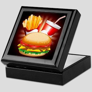 Fast Food Hamburger Fries and Drink Keepsake Box