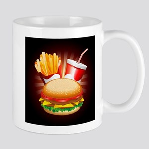 Fast Food Hamburger Fries and Drink Mugs