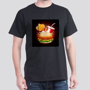 Fast Food Hamburger Fries and Drink T-Shirt