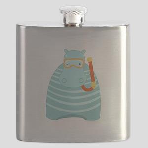 Snorkeling Hippo Flask