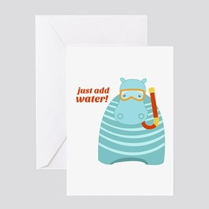 Just Add Water Greeting Cards