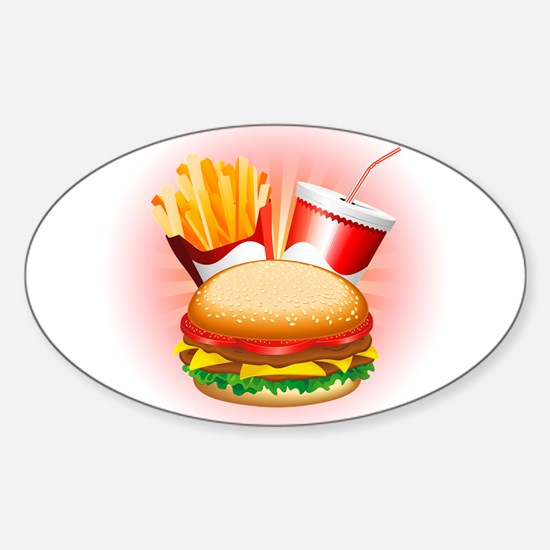 Fast Food Hamburger Fries and Drink Decal