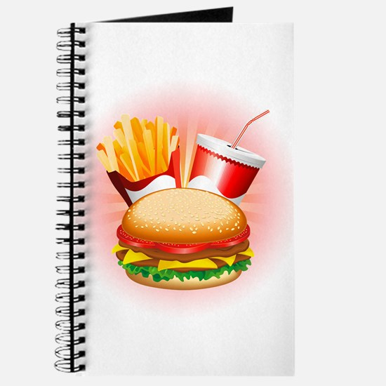 Fast Food Hamburger Fries and Drink Journal