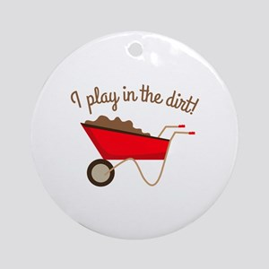 Dirt Play Ornament (Round)