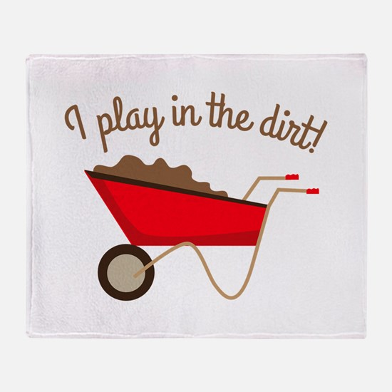 Dirt Play Throw Blanket