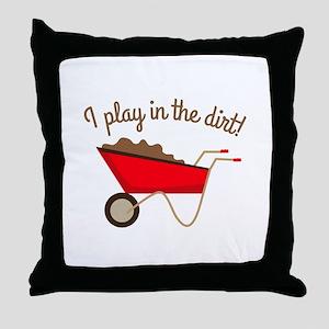 Dirt Play Throw Pillow