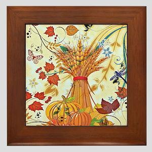 Autumn delight Framed Tile