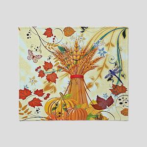 Autumn delight Throw Blanket