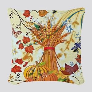 Autumn delight Woven Throw Pillow