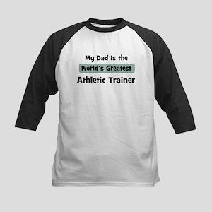 Worlds Greatest Athletic Trai Kids Baseball Jersey