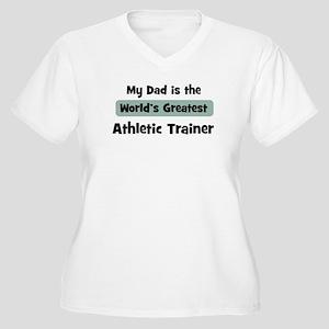 Worlds Greatest Athletic Trai Women's Plus Size V-