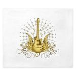 Golden Winged Guitar King Duvet