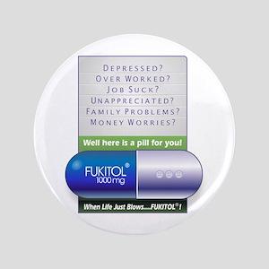 """Fukitol Poster 3.5"""" Button"""