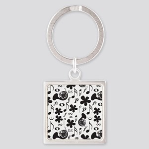 French Horn Classical Music Square Keychain