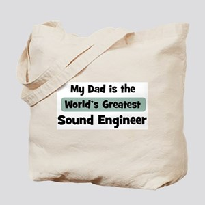 Worlds Greatest Sound Enginee Tote Bag