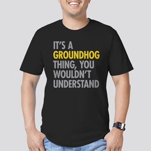 Its A Groundhog Thing Men's Fitted T-Shirt (dark)