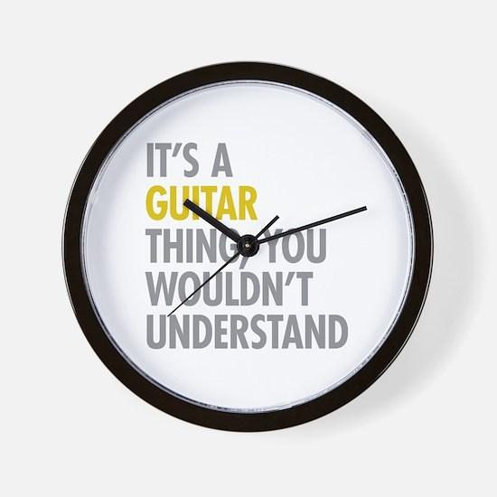 Its A Guitar Thing Wall Clock
