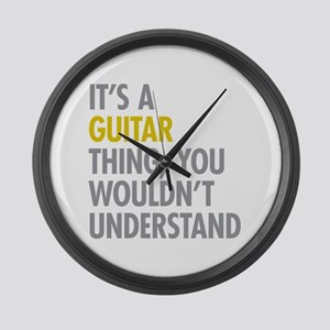 Its A Guitar Thing Large Wall Clock