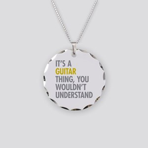 Its A Guitar Thing Necklace Circle Charm